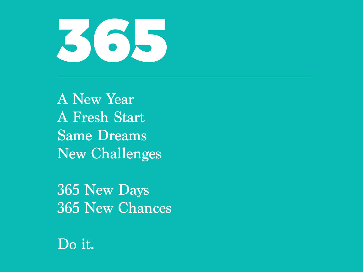 12 New Chapters – 365 New Chances